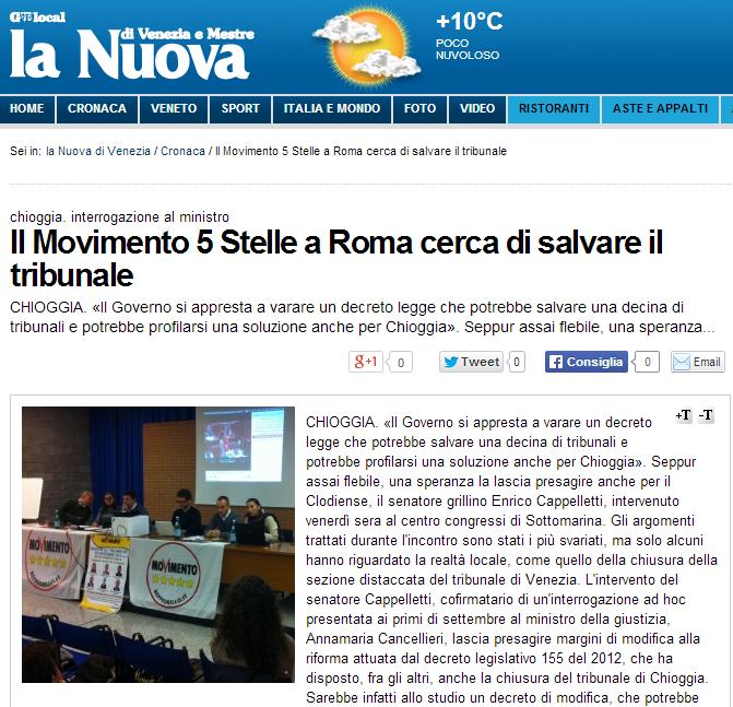 Il Movimento 5 Stelle a Roma cerca di salvare il tribunale